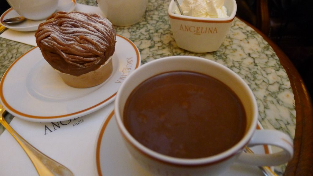 Mont blanc et chocolat chez Angelina