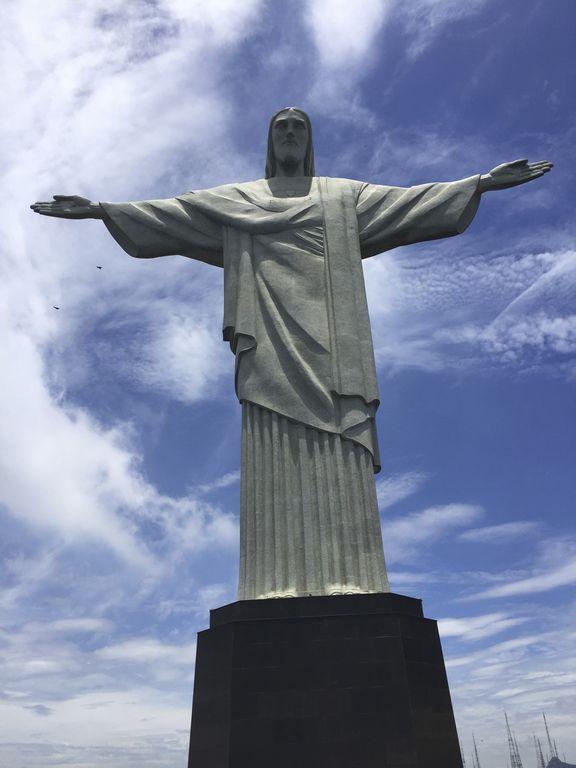 Le christ rédempteur sur le Corcovado à Rio