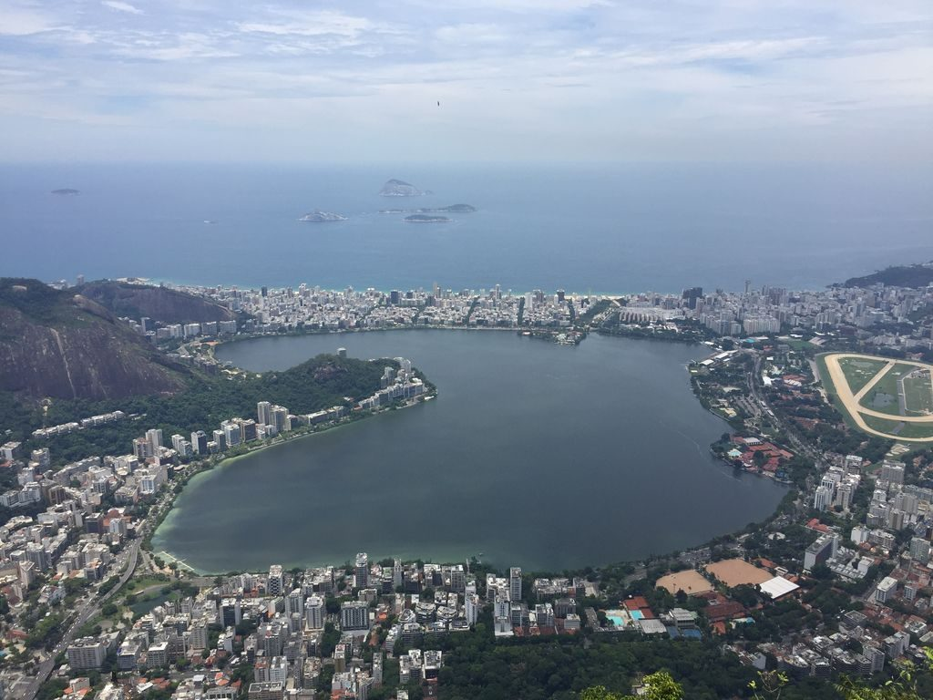 Vue sur la baie à Rio