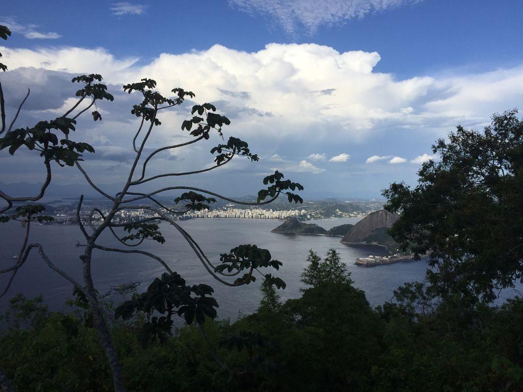 Vue sur la ville à Rio