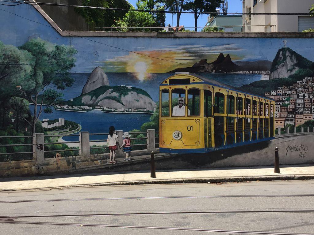 une fresque sur le tramway