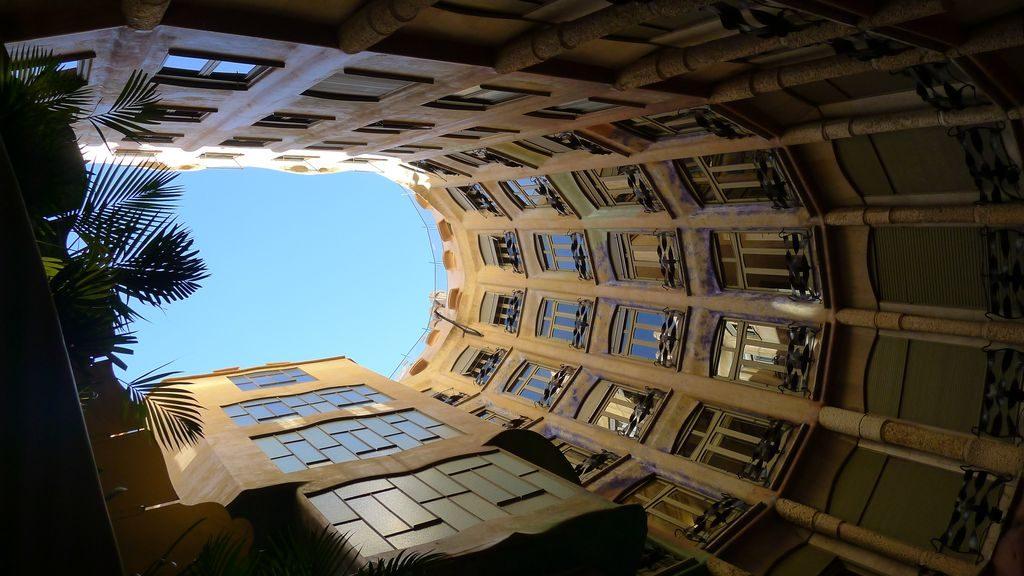 cour intérieure de la Casa Mila