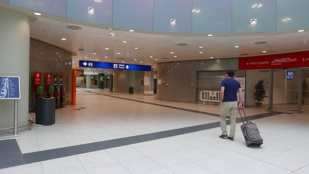 Accès aux trains à Malpensa terminal