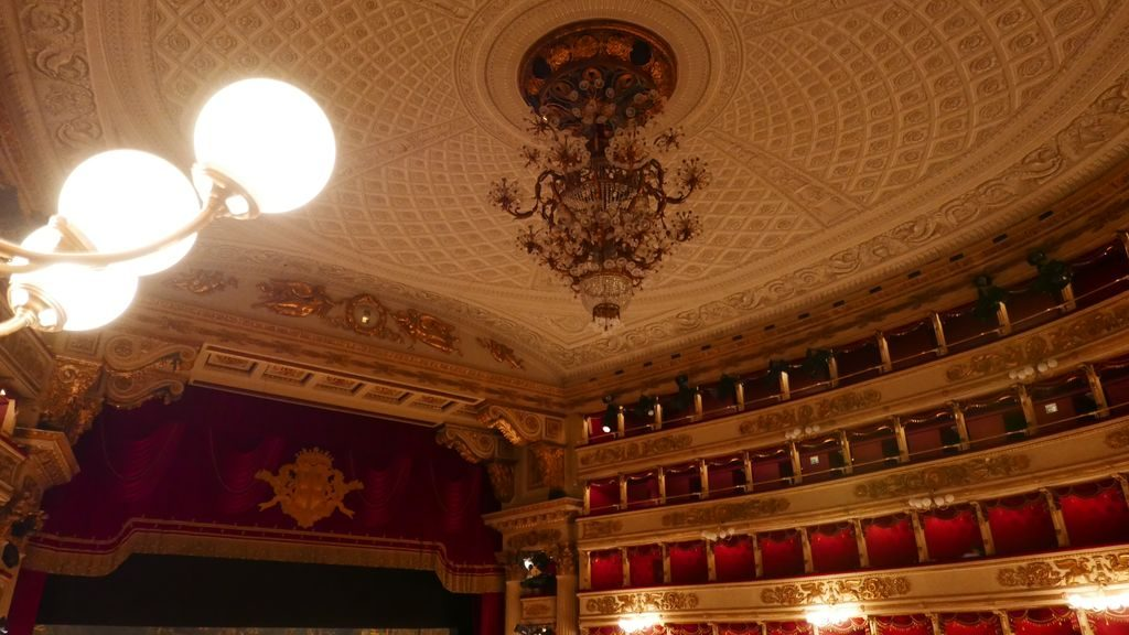 Plafond de la scène de la Scala