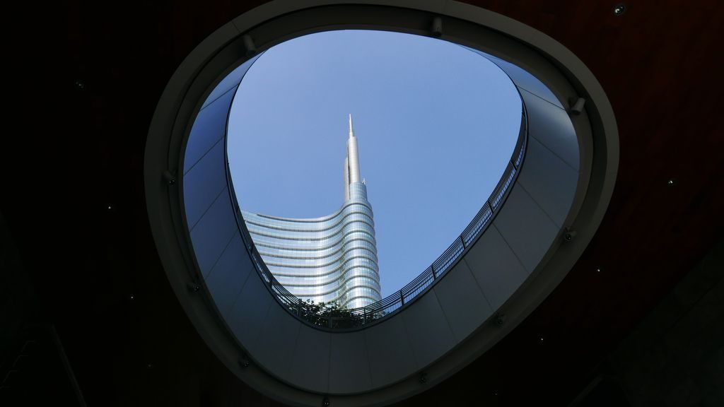 Vue sur la tour Unicredit