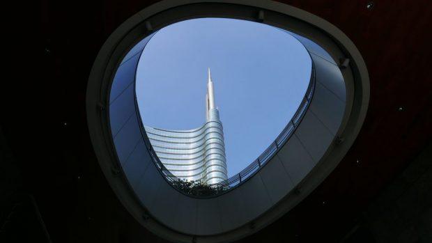 Vue sur la tour Unicredit