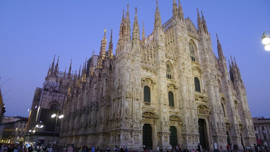 Eclairage du Duomo fin de journée