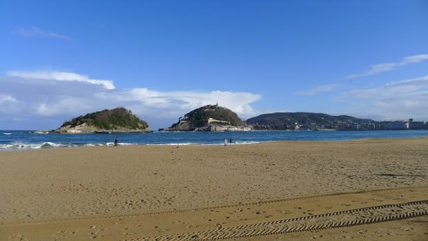 la plage de la baie le matin