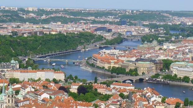 Vue sur la ville de Prague