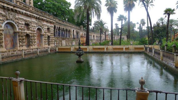 jardin d l'alcazar à Séville
