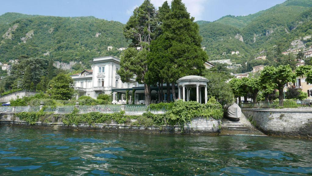 Les abords des villas sur le Lac de Côme