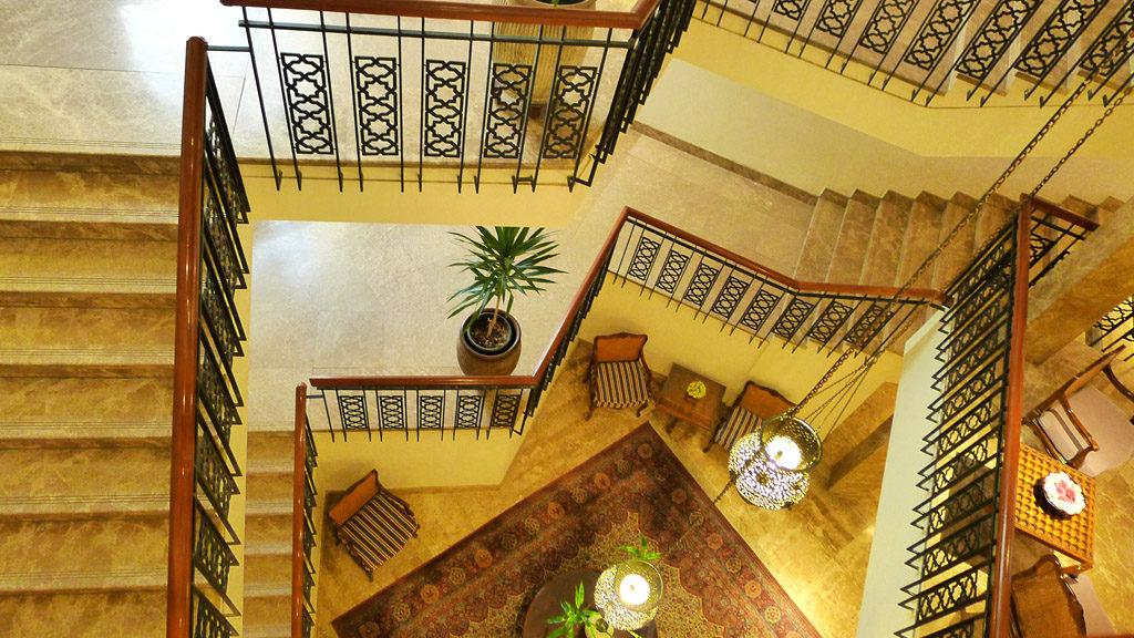 escalier de l'hôtel Mena House